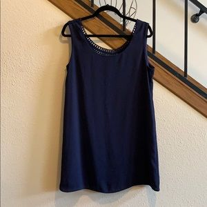 Navy Blue Embroidered Back dress from Francesca's